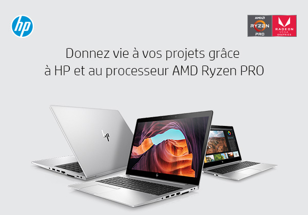 Donnez vie à vos projets grâce à HP et au processeur AMD Ryzen PRO